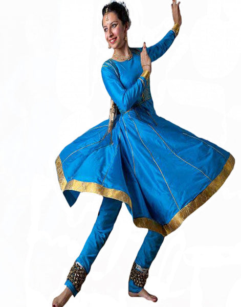 Blue Color Dance Costume