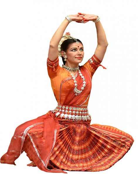 Orange Color Oddisi Dance Costume