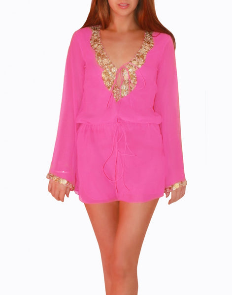 Pink Color Beachwear Kurti