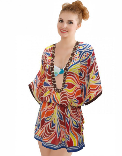 Multi Color Beach Wear Kaftan