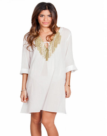 White Color Beach Wear Kurti