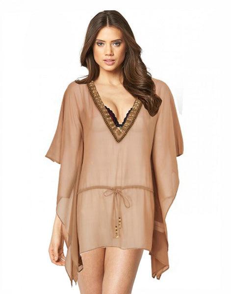 Skin Color Beach Wear Kaftan