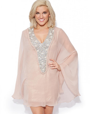 Light Peach Beach Wear Kaftan