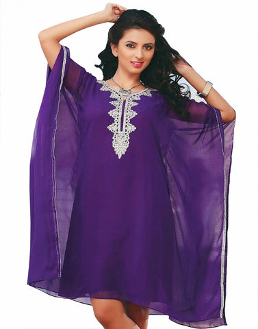 Deep Purple Beach Wear Kaftan