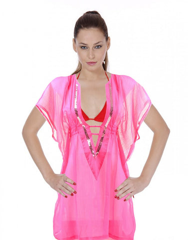 Pink Beach Wear Kaftan