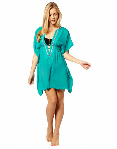 Cyan Blue Beach Wear Kaftan