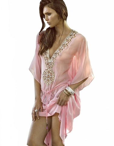 Light Pink Beach Wear Kurti