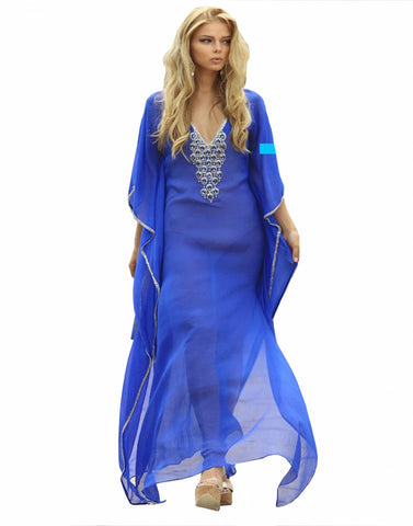 Royal Blue Beach Wear Kaftan