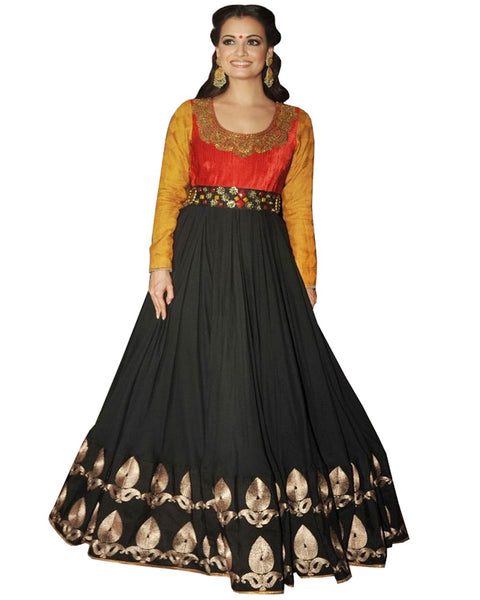 Diya Mirza Black Red Gown
