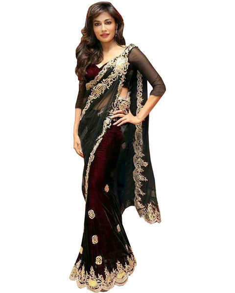 Chitrangada Singh Black Net Saree