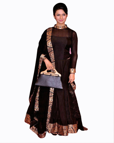 Divyanka Black Queen Suit