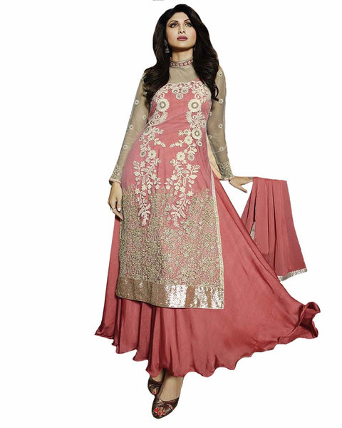 Bollywood Pink Anarkali Salwar Suit