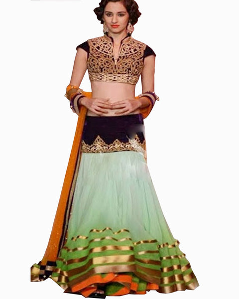 Bollywood Designer Green Padding Lehenga