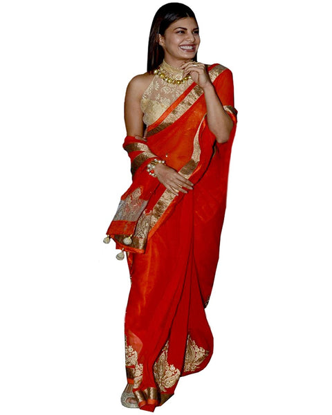 Jacqueline Red Designer Saree