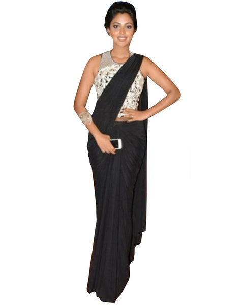 Amak Paul Black Saree