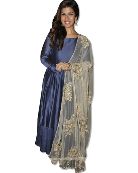 NIMRAT KAUR EMBROIDERED ANARKALI SUIT
