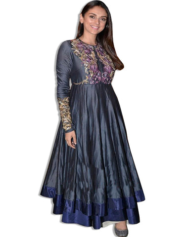 ADITI RAO EMBROIDERED NAVY SUIT