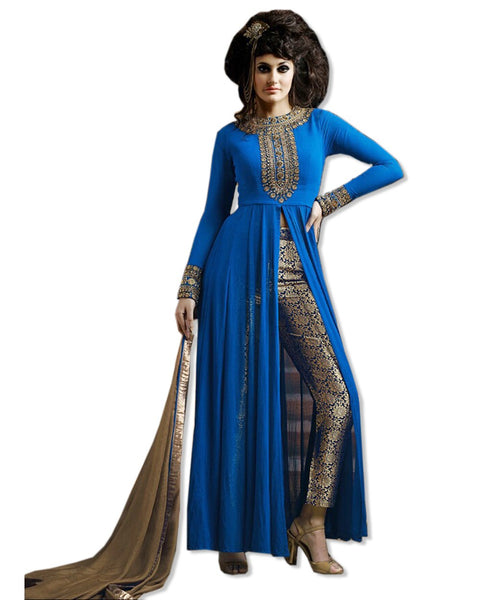 ROYAL BLUE INDO WESTERN PANT STYLE