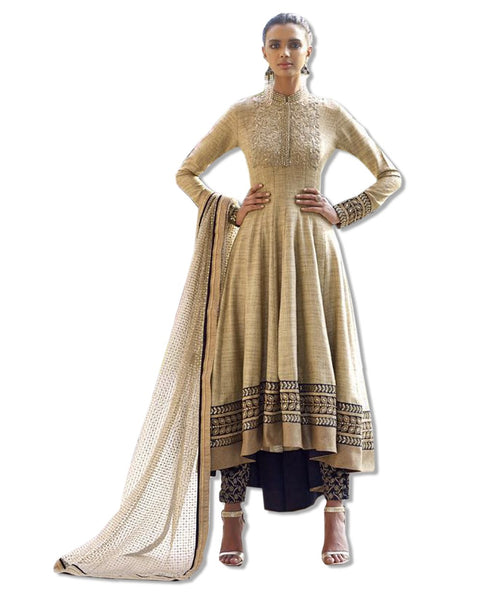 GOLD EMBROIDERED KHADI JACQUARD SUIT