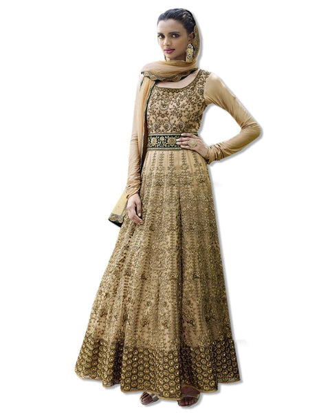 GOLD EMBROIDERED LONG DRESS