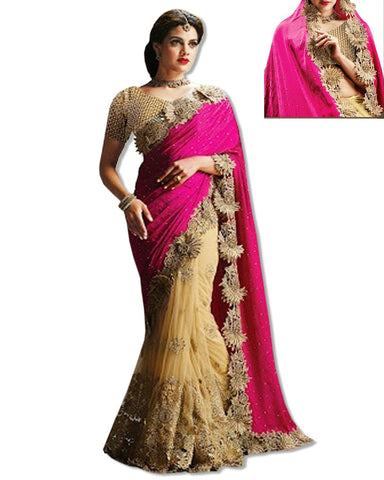 RED DESIGNER GEORGETTE SARI