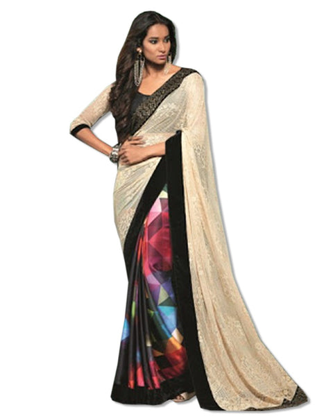 MULTI PRINTED DIGITAL LIGHT WEIGHT SARI
