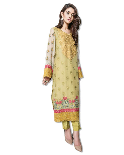 GEORGETTE EMBROIDERED LIGHT GREEN SUIT