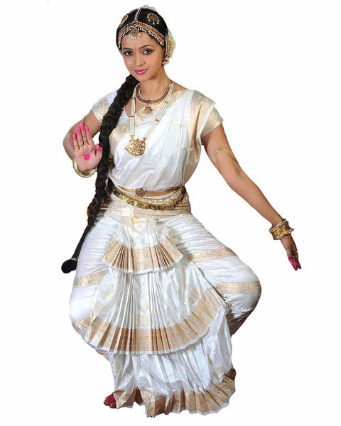 Bharatnatyam White Dance Dress