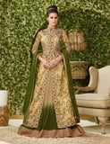Green & Yellow Designer Gown