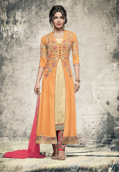 Priyanka Yellow designer Joket Suit