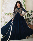 Nevy Blue Party wear Anarkali Suit