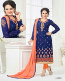 Blue Designer Churidar Suit