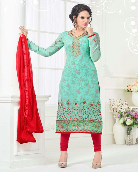 Green Long Salwar Suit