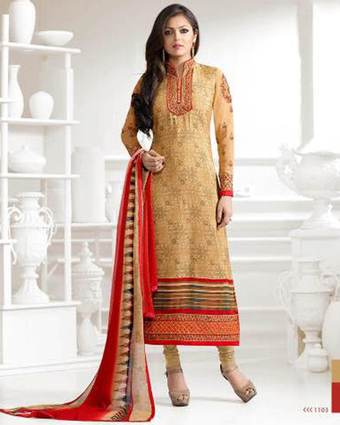 Golden Designer Salwar Suit