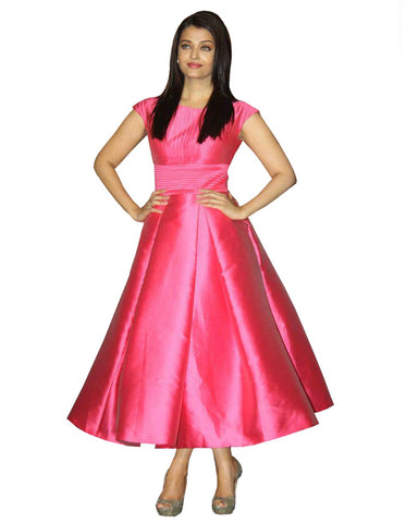 Bollywood Pink Frock Style Suit