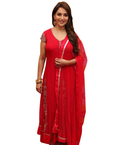 Bollywood Red Designer Anarkali Suit