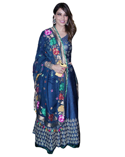 Bollywood Silk Blue Designer Lahenga