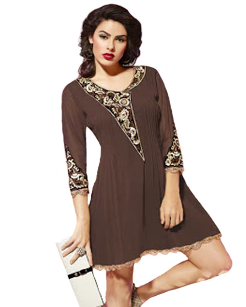 Stylish Look Chocolate Color Tunic