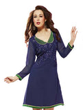 Stylish Dk.Blue Jacket Look embroided Tunic
