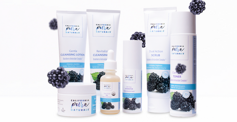 Naturals, vegan, cruelty-free, and organic skin care products used in California Pure Naturals organic skin care routines.