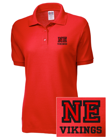 Ladies Red Polo