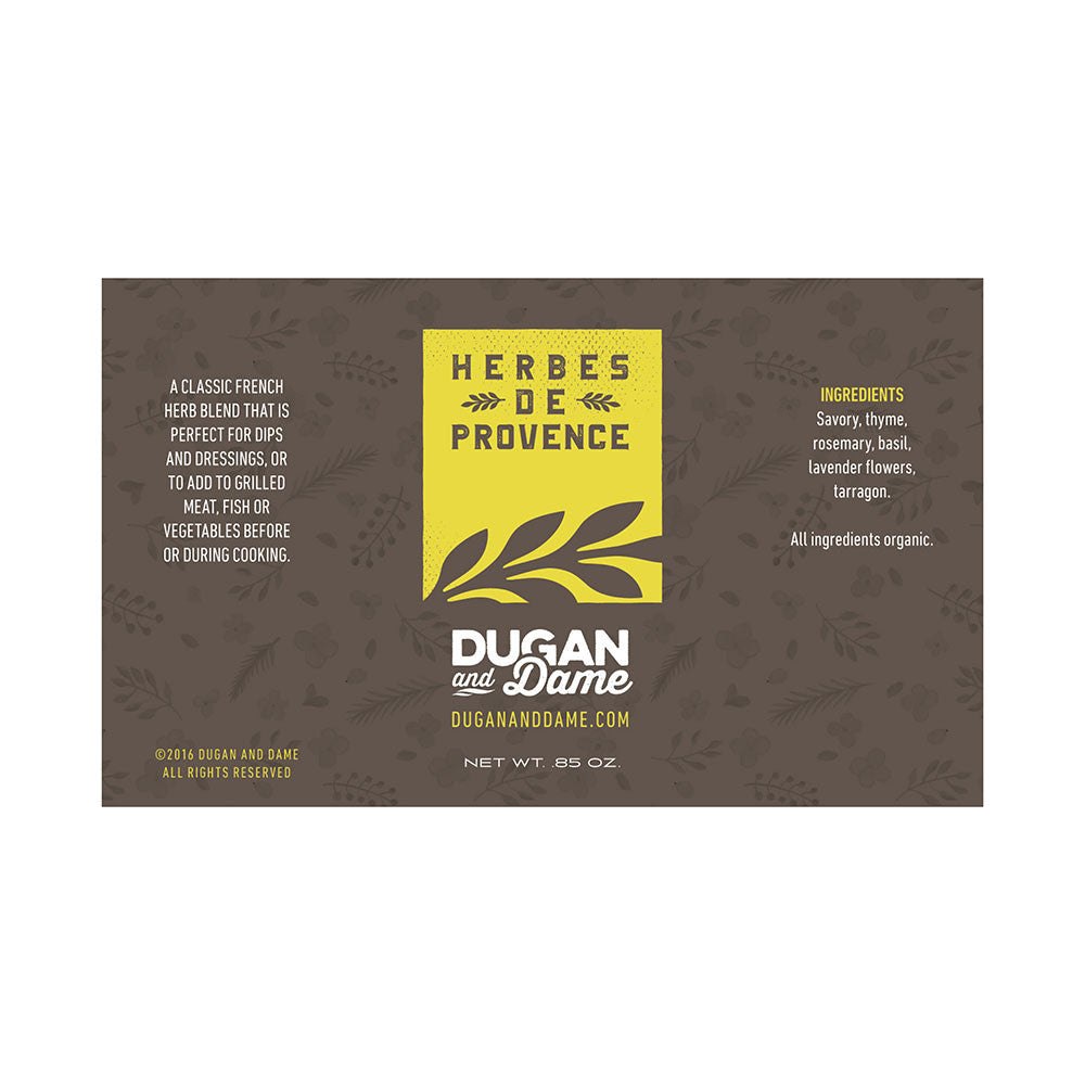 Dugan and Dame Herbes De Provence Label