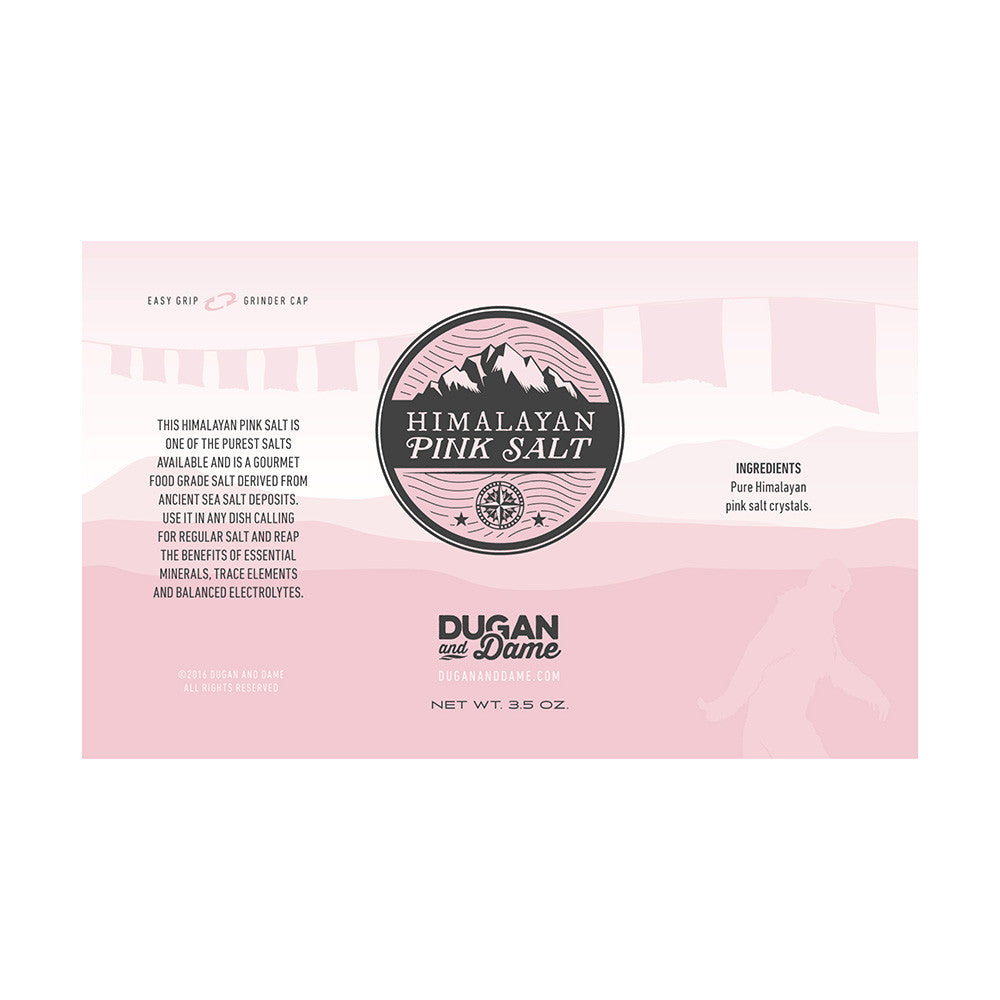 Dugan and Dame Himalayan Pink Salt Label