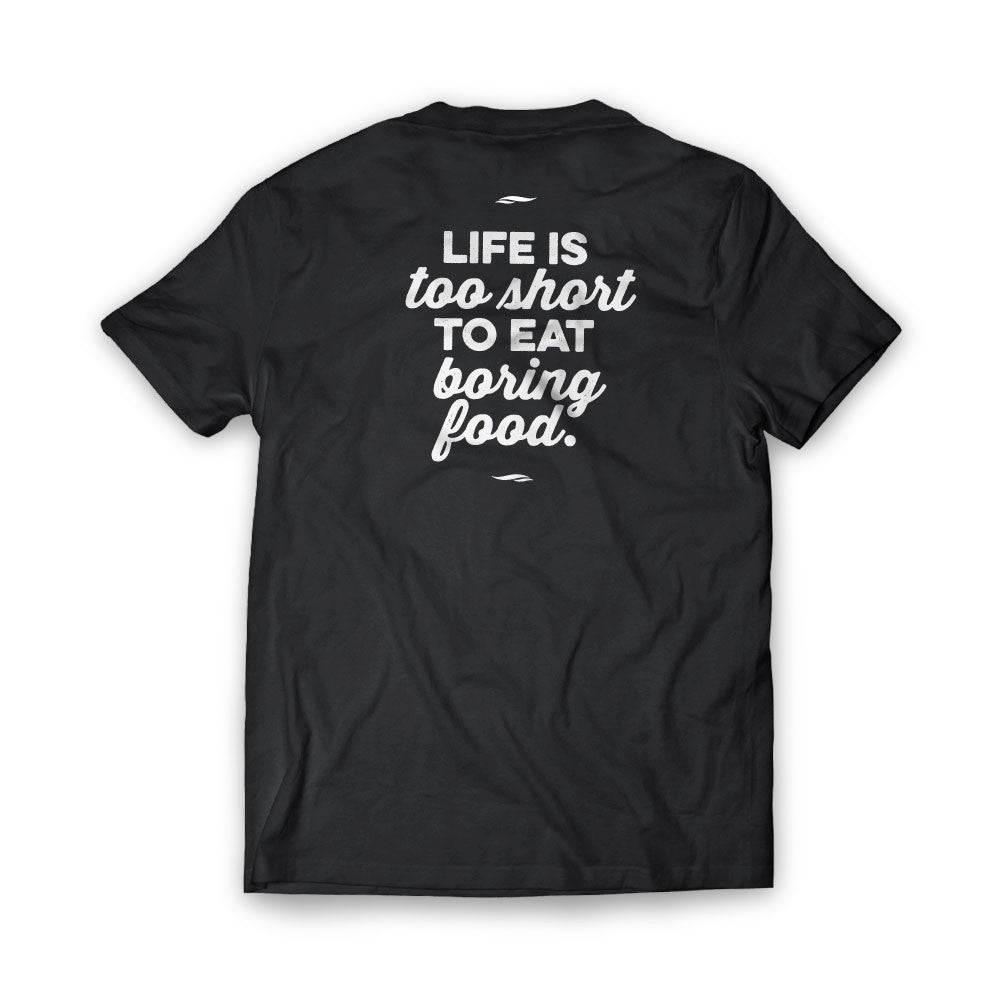 Dugan and Dame Life Is Too Short T-shirt Back