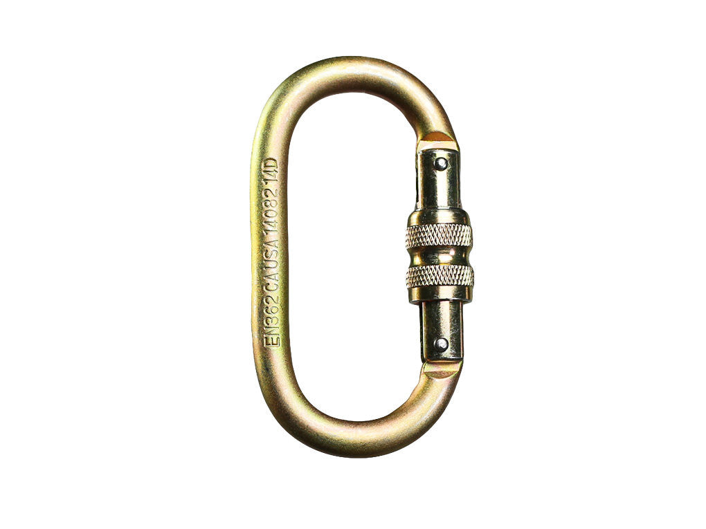 Steel OVAL screw lock Fusion carabiner
