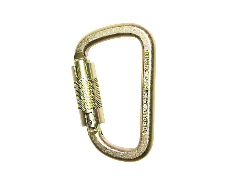 Steel D Quick lock Carabiner by Fusion