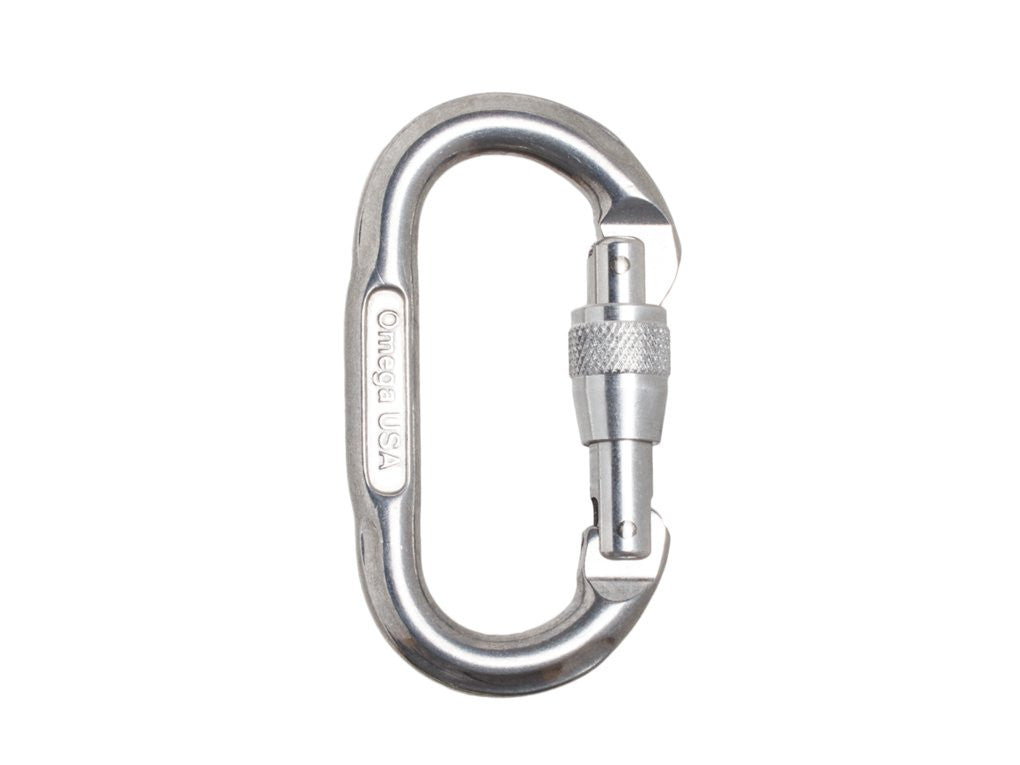 Omega Pacific Locking Oval Carabiner