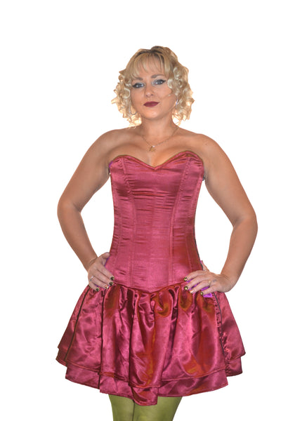 FULL BUST CORSET DRESS - RED