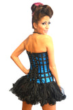 FULL BUST CORSET WITH LACED RIBBON