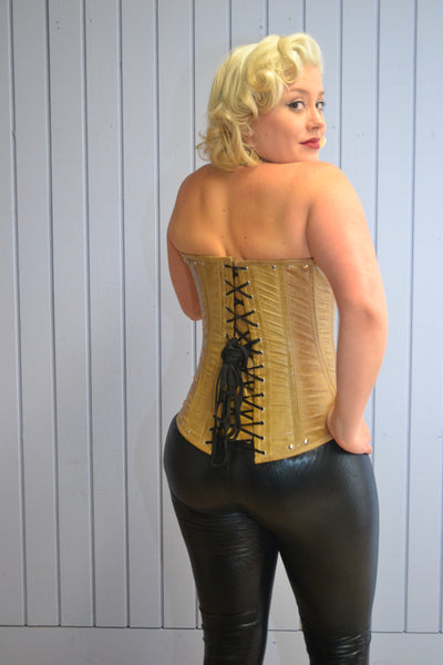 UNDER BUST HALTER PLUS SIZE LEATHER CORSET